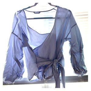 H&M sky blue blouse